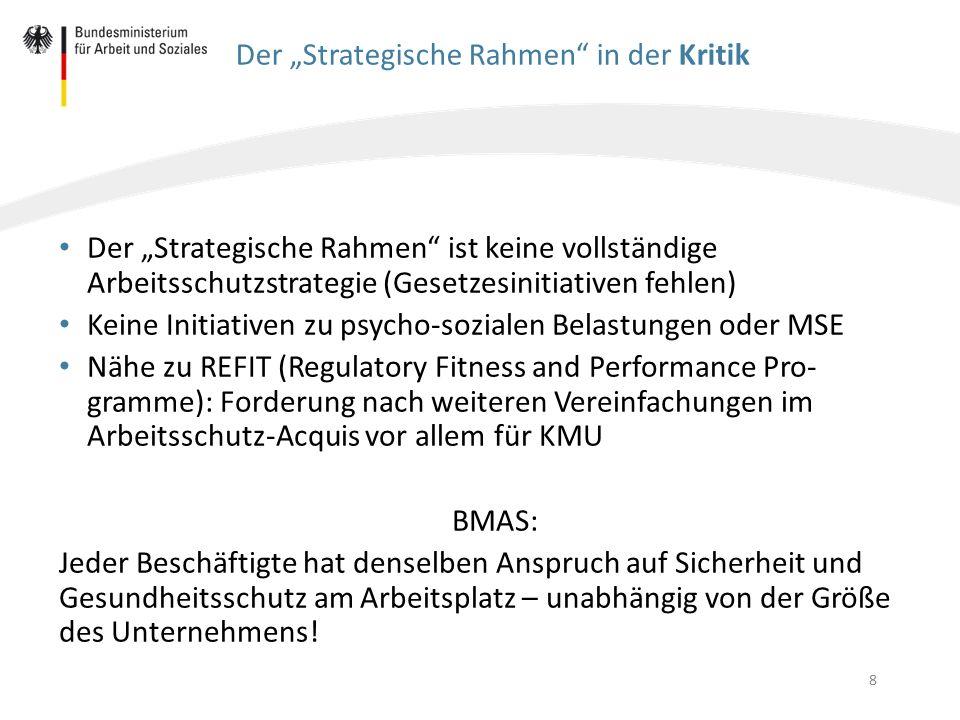"""Der """"Strategische Rahmen in der Kritik"""