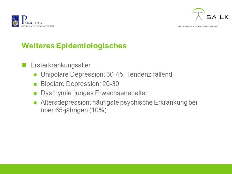 Weiteres Epidemiologisches