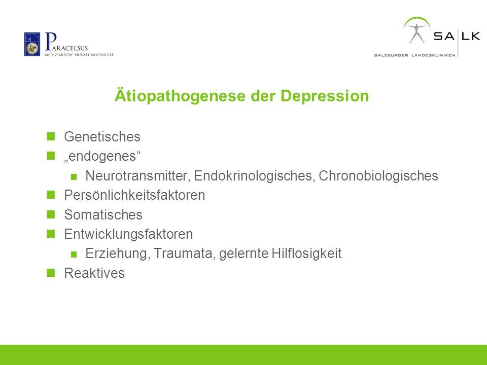 Ätiopathogenese der Depression