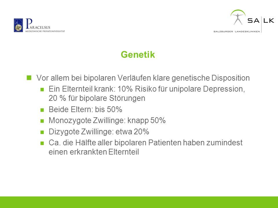 Genetik Vor allem bei bipolaren Verläufen klare genetische Disposition