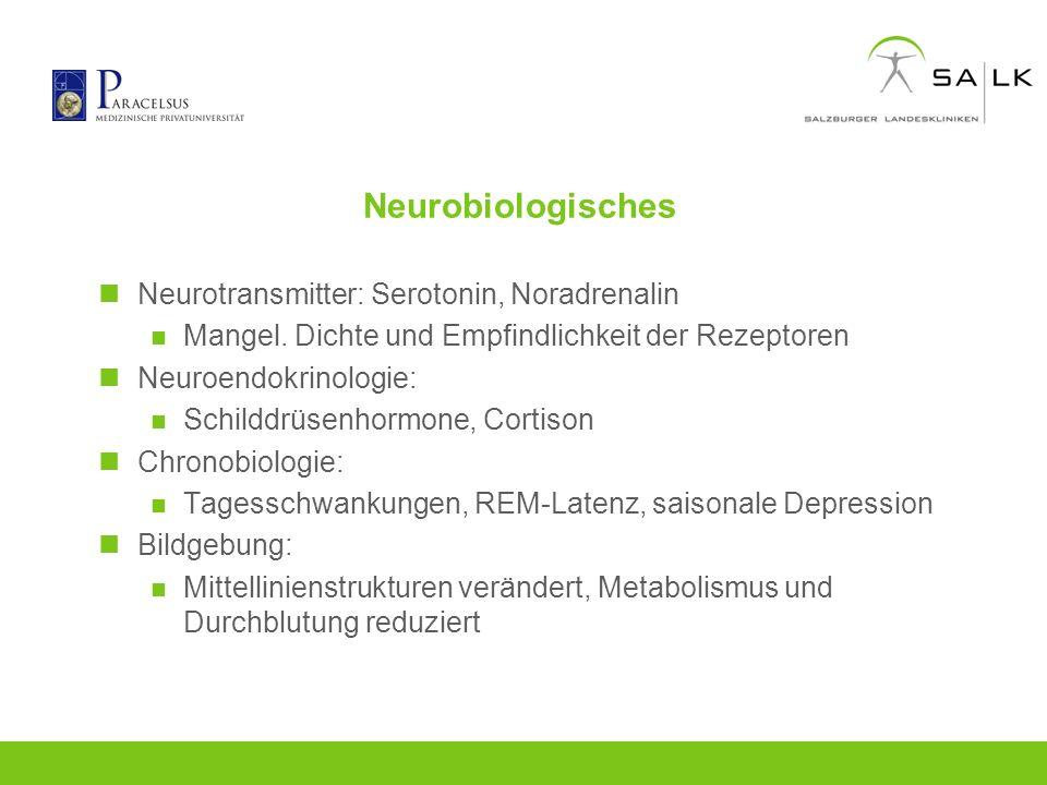 Neurobiologisches Neurotransmitter: Serotonin, Noradrenalin