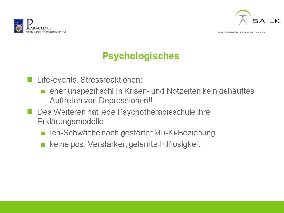 Psychologisches Life-events, Stressreaktionen: