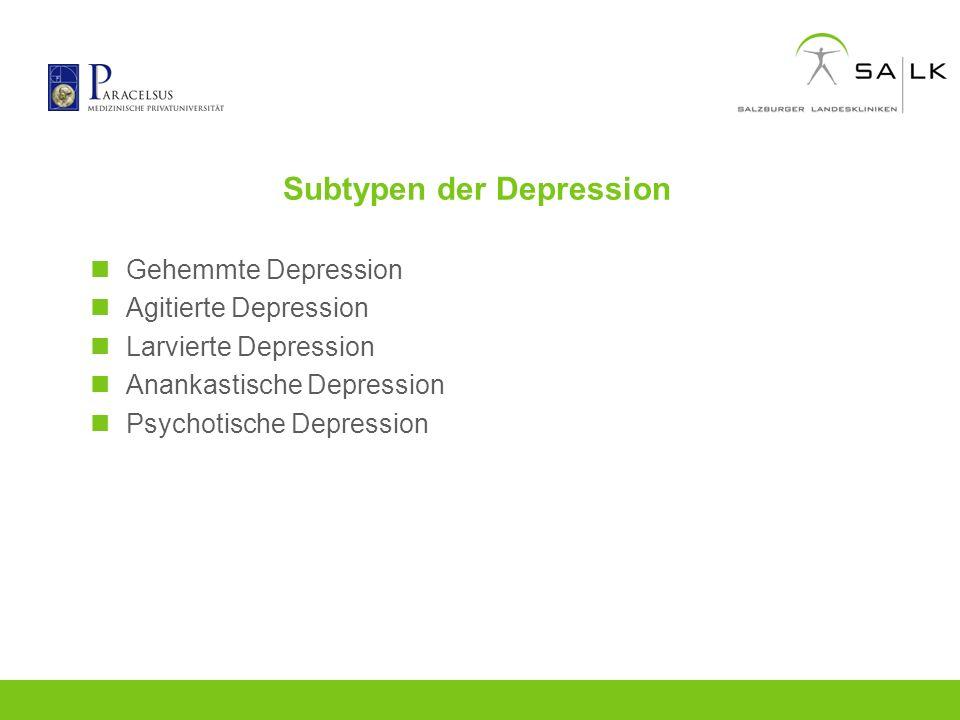 Subtypen der Depression