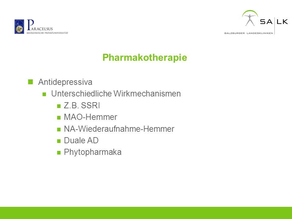 Pharmakotherapie Antidepressiva Unterschiedliche Wirkmechanismen