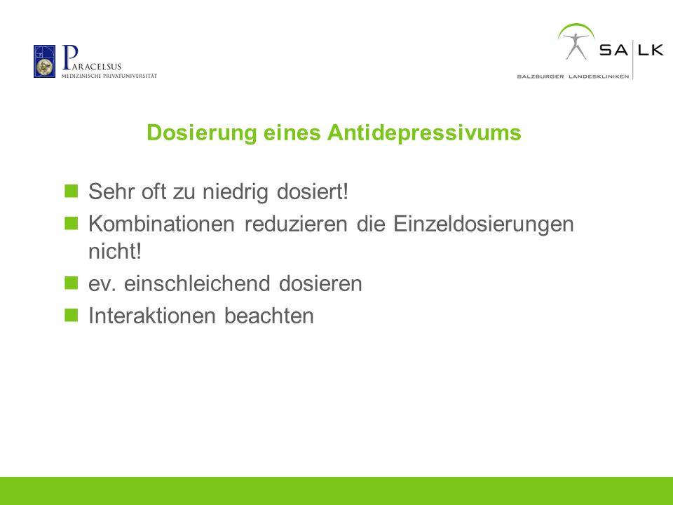 Dosierung eines Antidepressivums