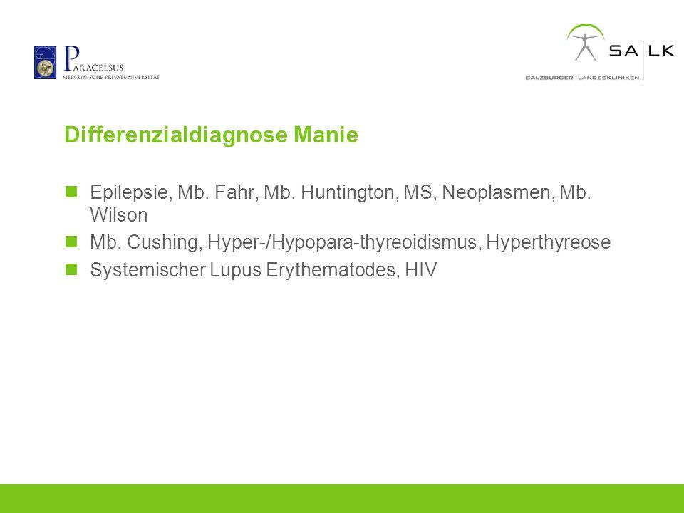 Differenzialdiagnose Manie