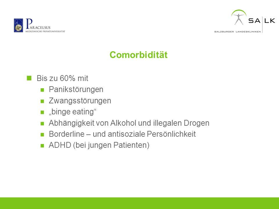 Comorbidität Bis zu 60% mit Panikstörungen Zwangsstörungen