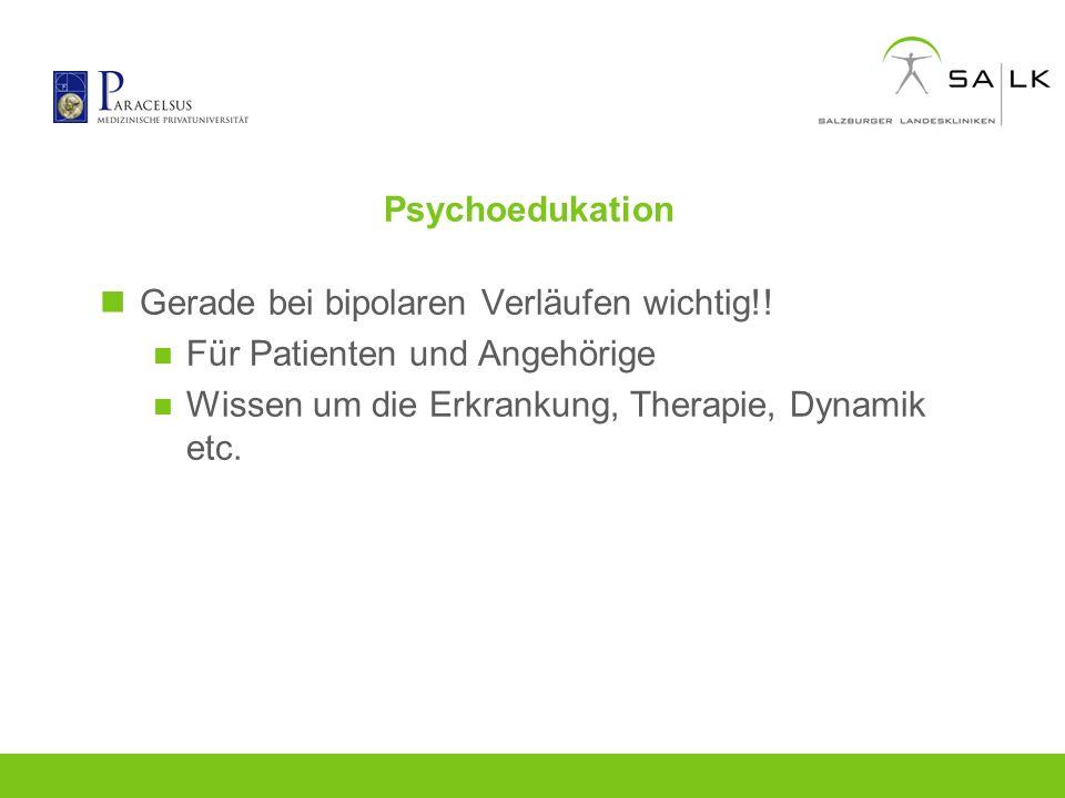 Psychoedukation Gerade bei bipolaren Verläufen wichtig!.