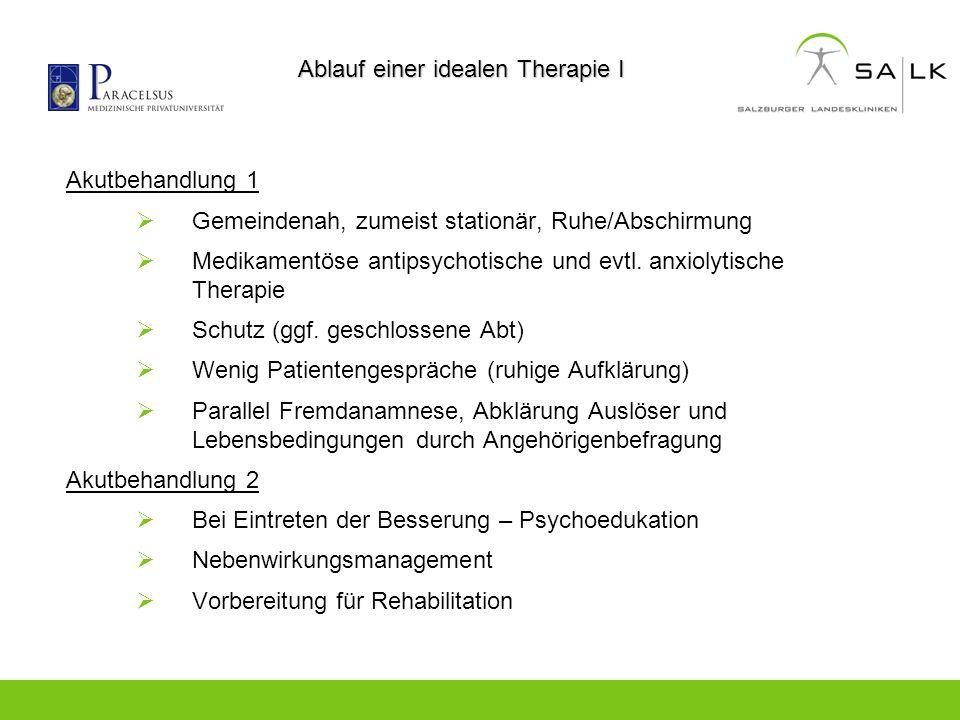 Ablauf einer idealen Therapie I