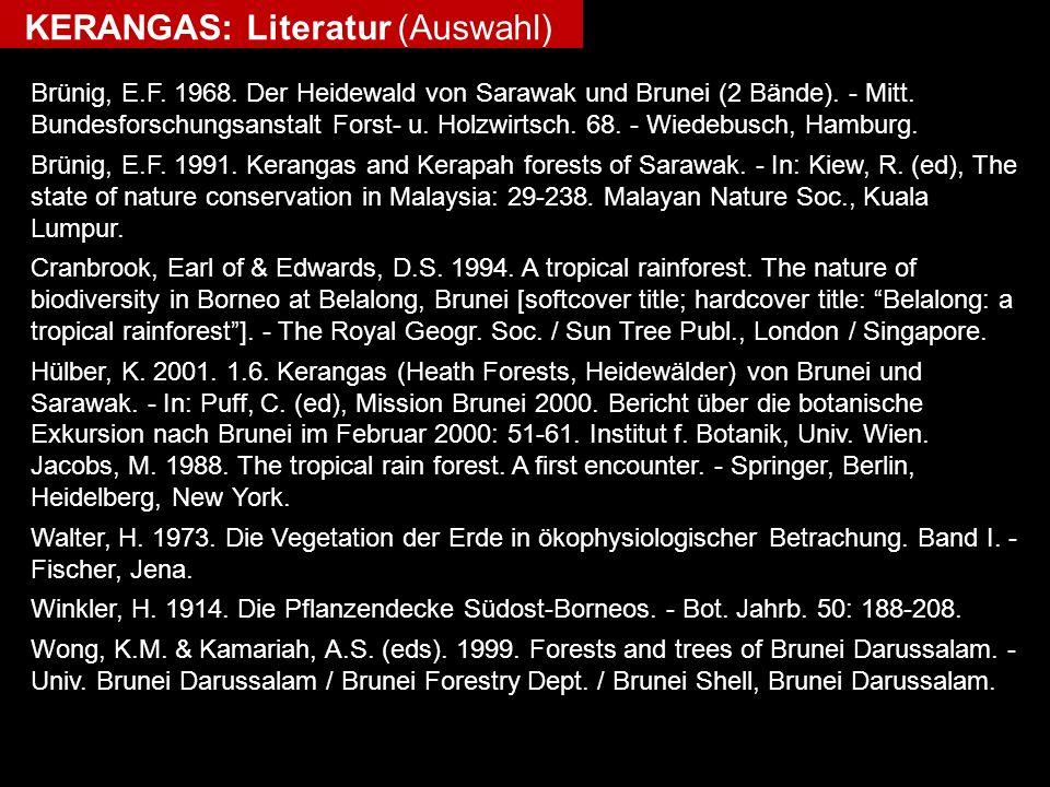 KERANGAS: Literatur (Auswahl)