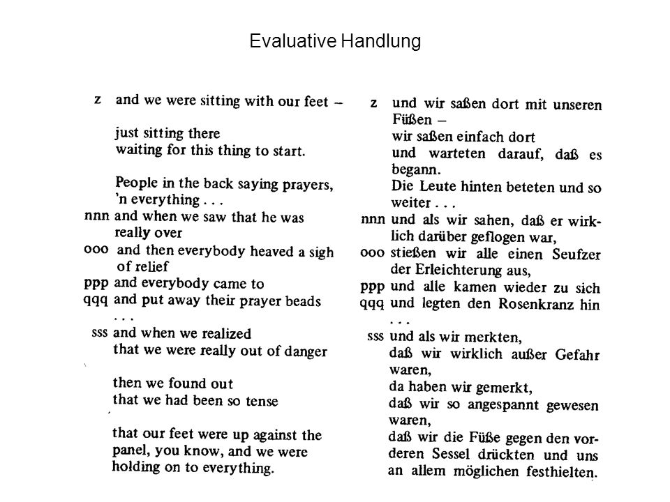 Evaluative Handlung