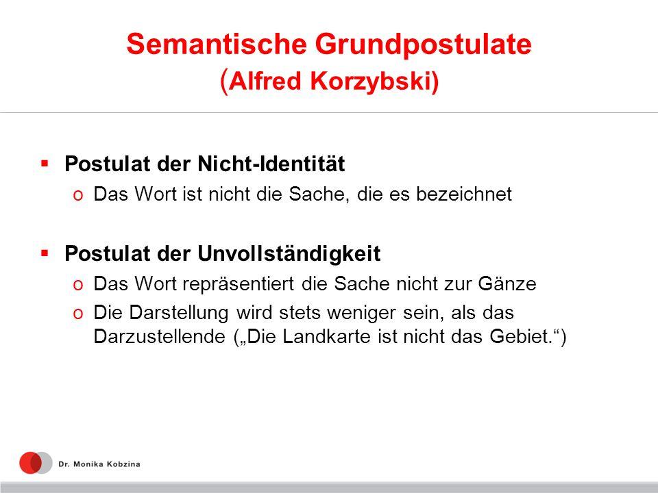 Semantische Grundpostulate (Alfred Korzybski)