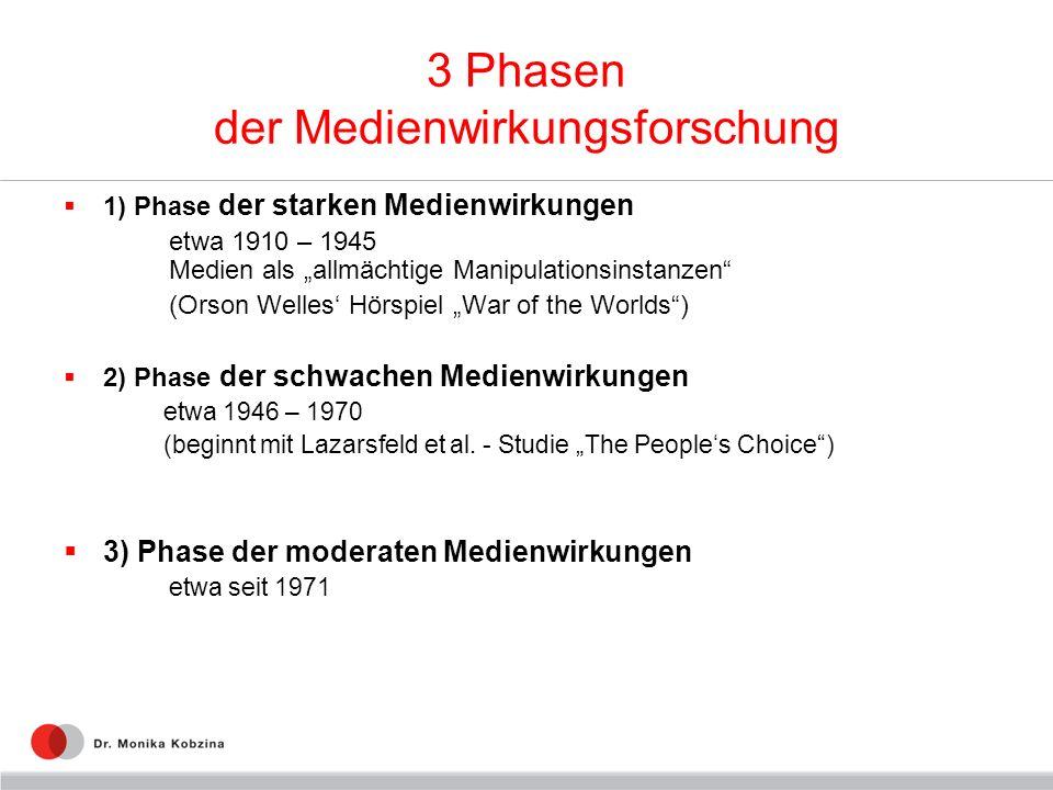 3 Phasen der Medienwirkungsforschung