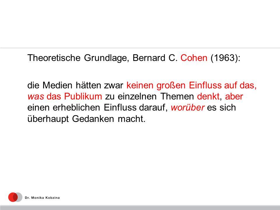 Theoretische Grundlage, Bernard C. Cohen (1963):