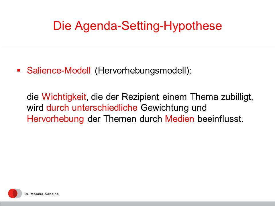 Die Agenda-Setting-Hypothese