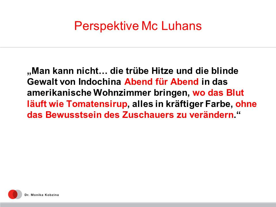 Perspektive Mc Luhans