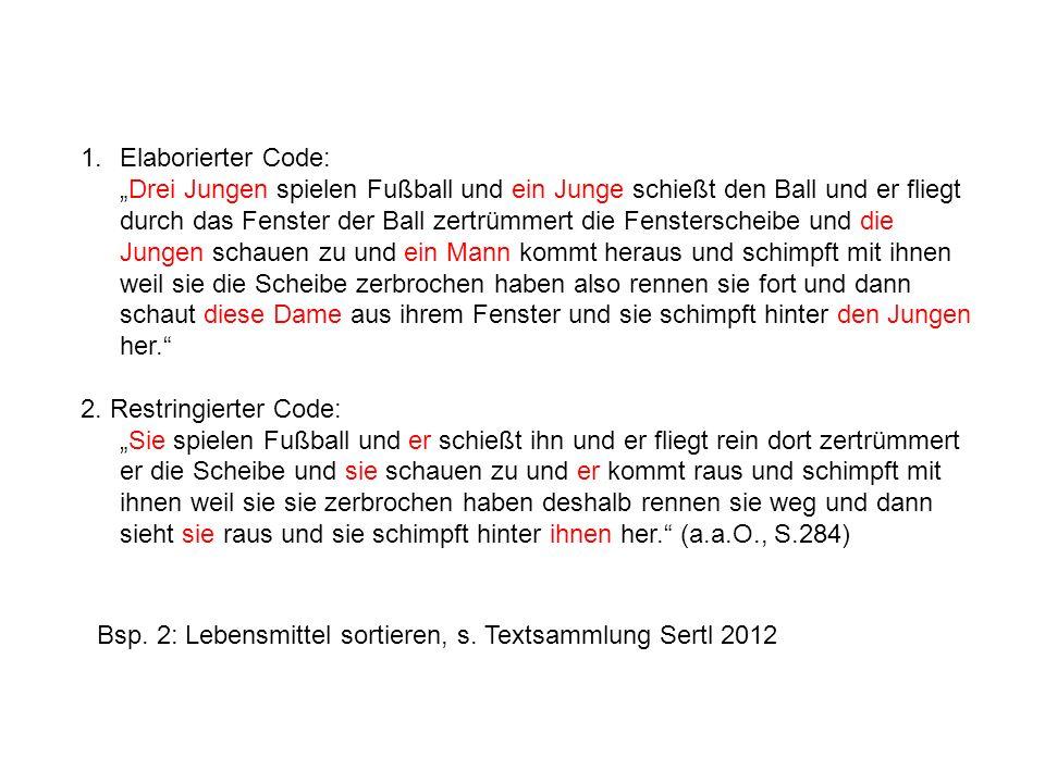 Elaborierter Code: