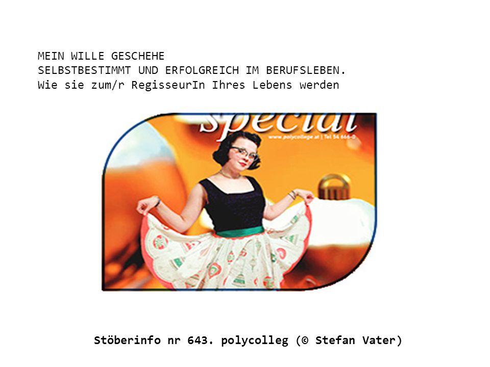 Stöberinfo nr 643. polycolleg (© Stefan Vater)