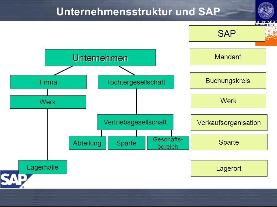 Unternehmensstruktur und SAP