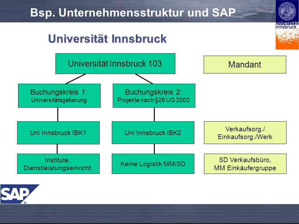 Bsp. Unternehmensstruktur und SAP