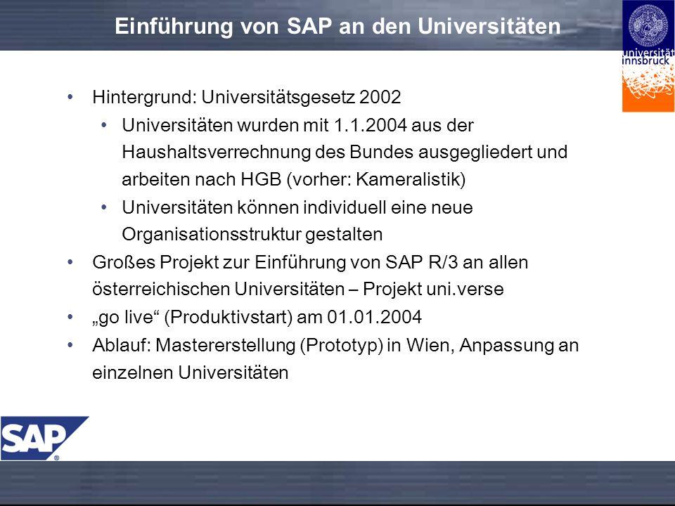 Einführung von SAP an den Universitäten