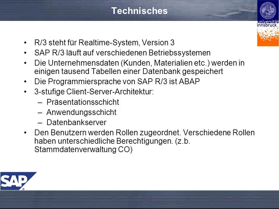 Technisches R/3 steht für Realtime-System, Version 3