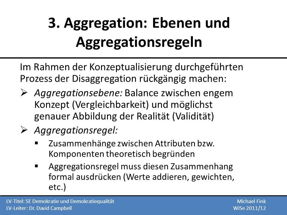 3. Aggregation: Ebenen und Aggregationsregeln