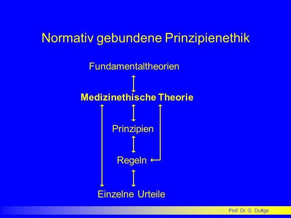 Normativ gebundene Prinzipienethik