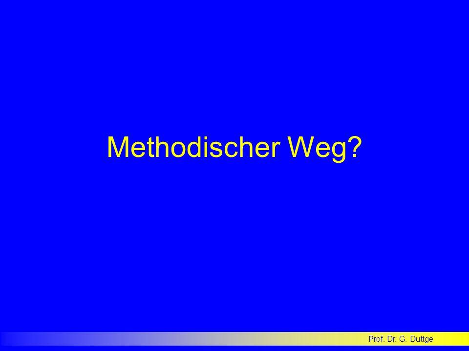 Methodischer Weg