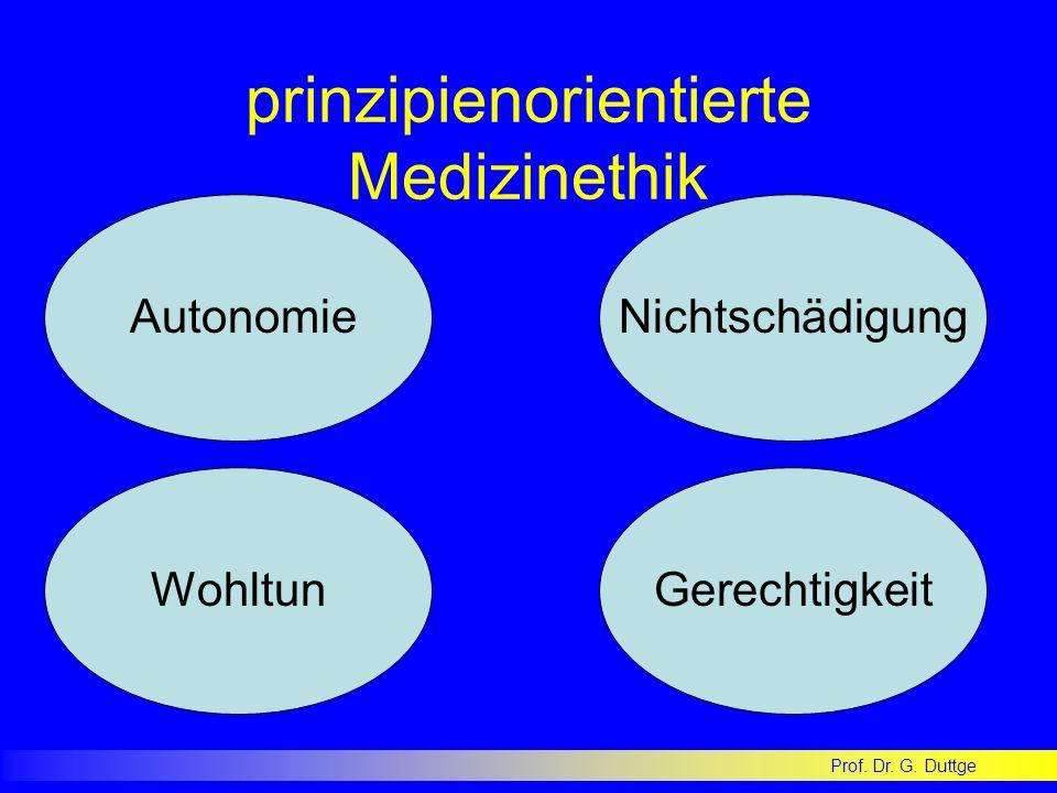 prinzipienorientierte Medizinethik