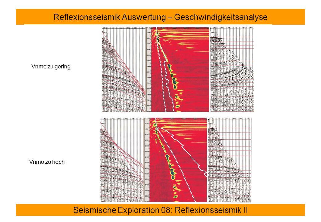 Reflexionsseismik Auswertung – Geschwindigkeitsanalyse
