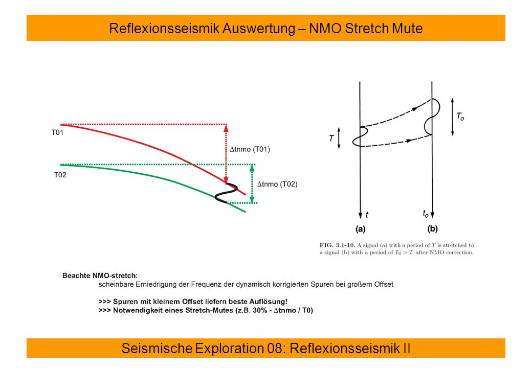 Reflexionsseismik Auswertung – NMO Stretch Mute