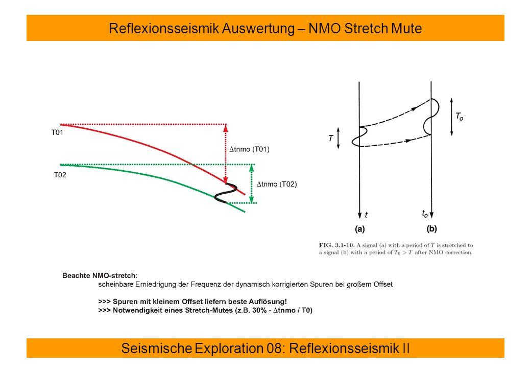 Reflexionsseismik Auswertung – NMO Stretch Mute