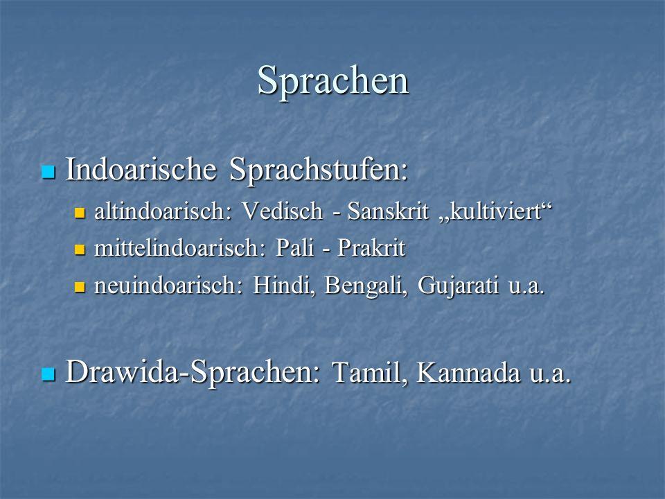 Sprachen Indoarische Sprachstufen: