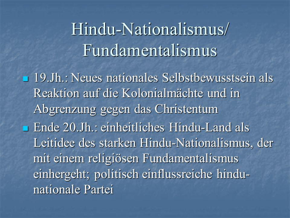Hindu-Nationalismus/ Fundamentalismus