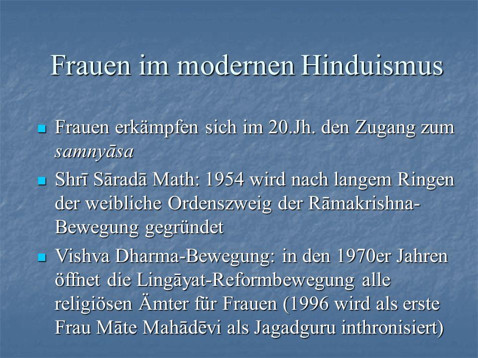 Frauen im modernen Hinduismus