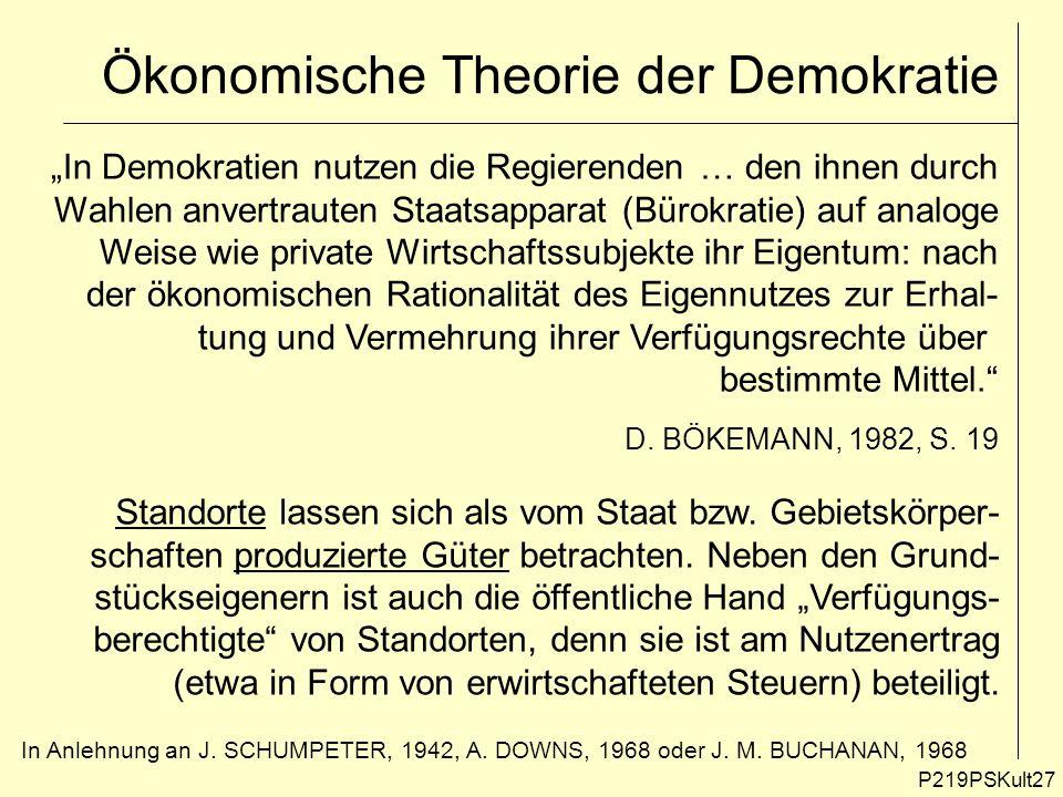 Ökonomische Theorie der Demokratie