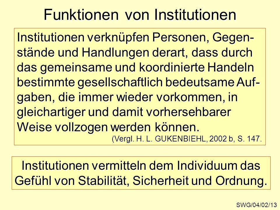 Funktionen von Institutionen