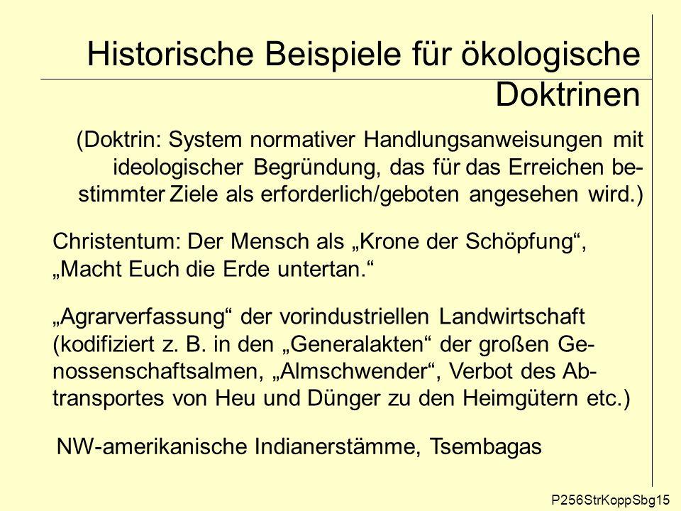 Historische Beispiele für ökologische Doktrinen