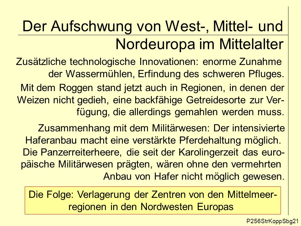 Der Aufschwung von West-, Mittel- und Nordeuropa im Mittelalter