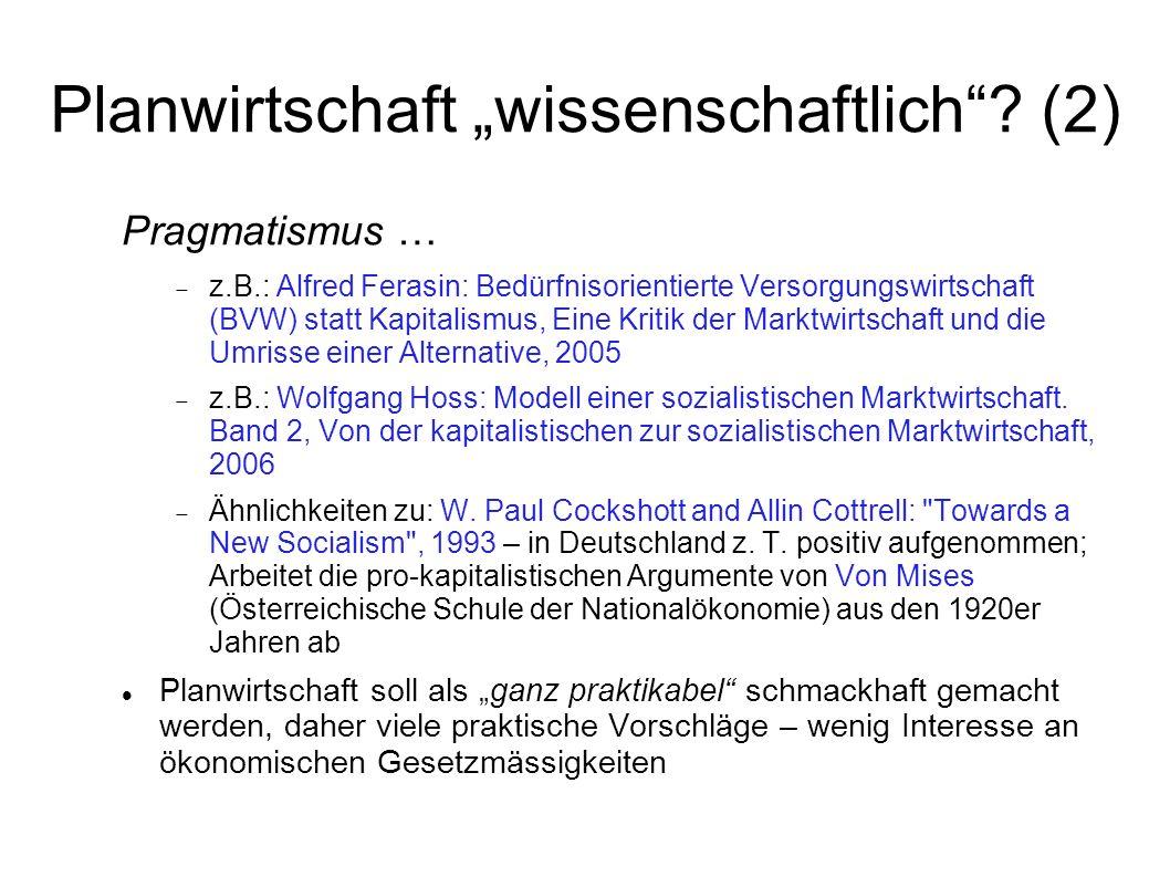 """Planwirtschaft """"wissenschaftlich (2)"""