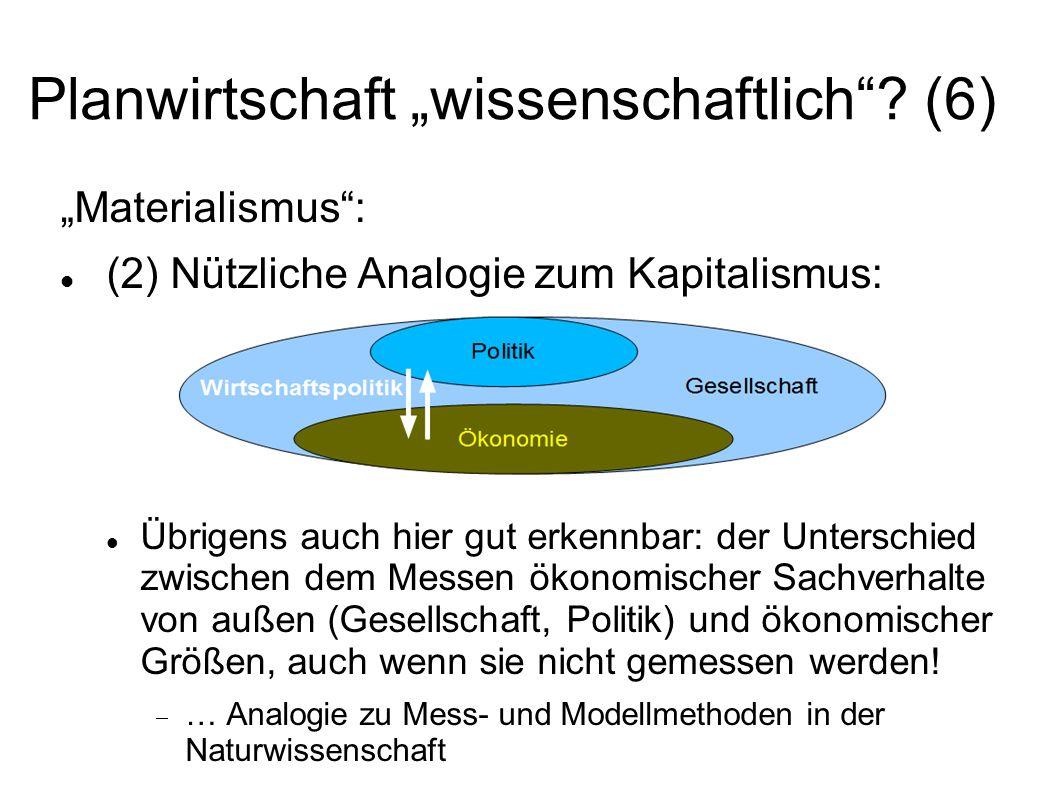 """Planwirtschaft """"wissenschaftlich (6)"""