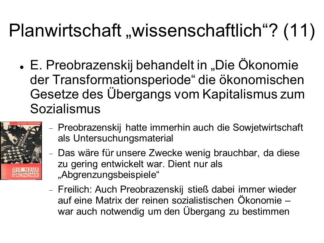 """Planwirtschaft """"wissenschaftlich (11)"""