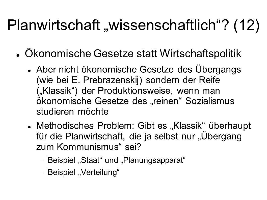 """Planwirtschaft """"wissenschaftlich (12)"""