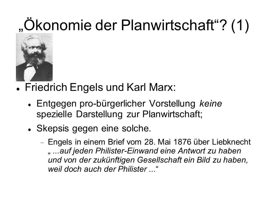 """""""Ökonomie der Planwirtschaft (1)"""