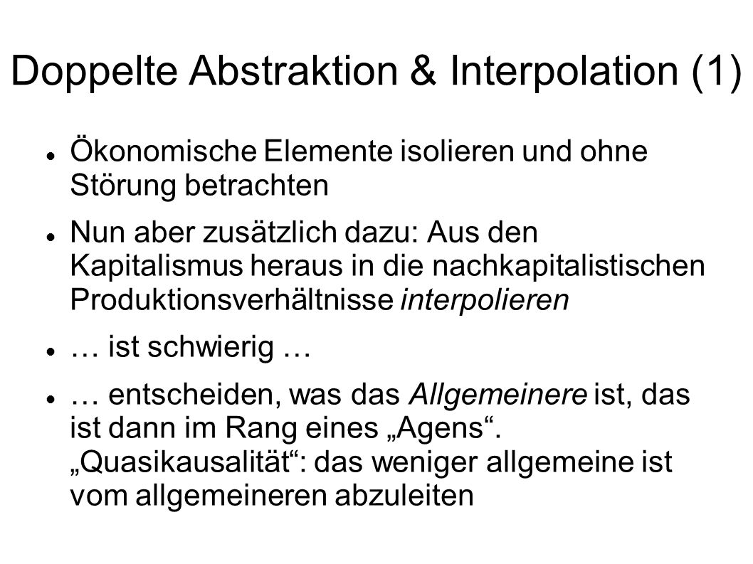 Doppelte Abstraktion & Interpolation (1)