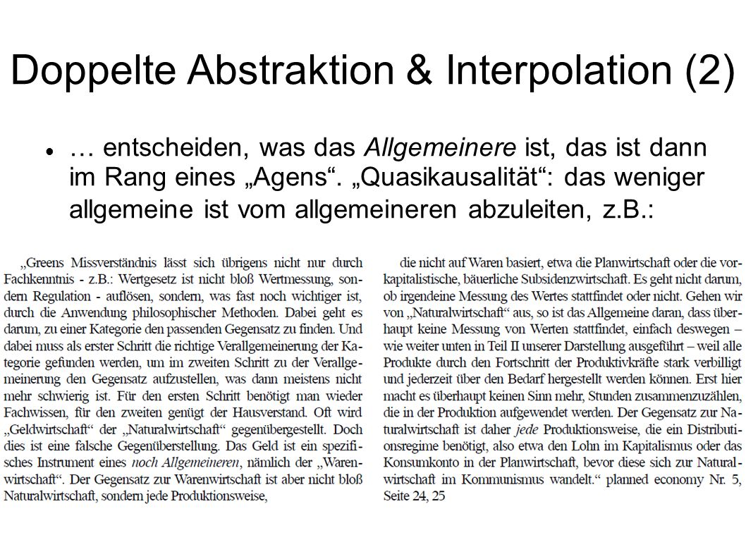 Doppelte Abstraktion & Interpolation (2)