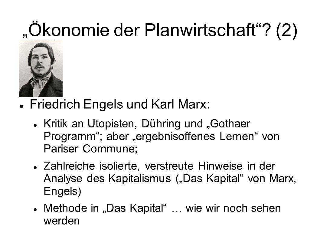 """""""Ökonomie der Planwirtschaft (2)"""