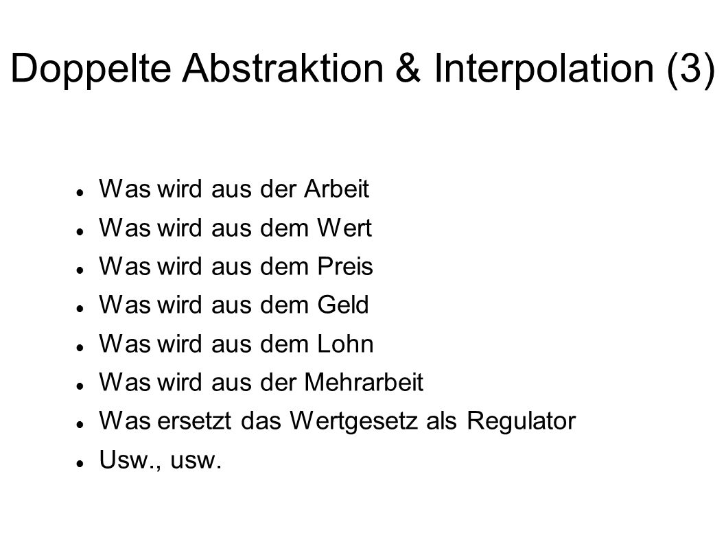 Doppelte Abstraktion & Interpolation (3)