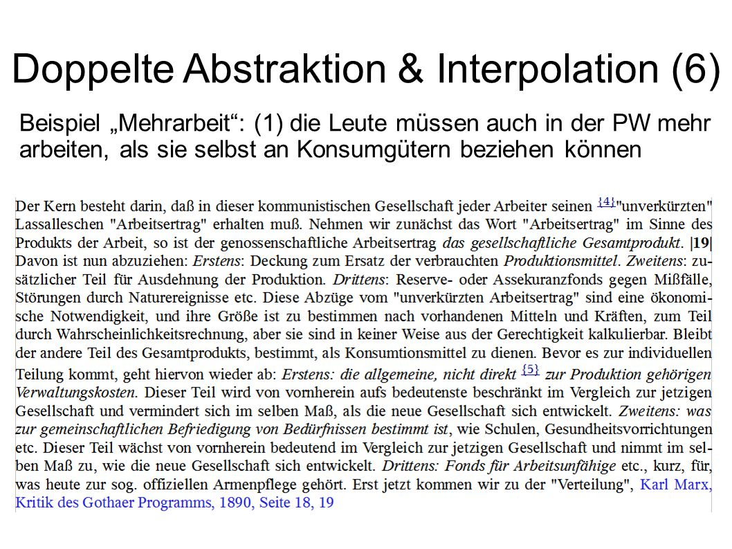 Doppelte Abstraktion & Interpolation (6)